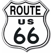 Anuncio Poster Lamina Metalico Vintage Route 66 0162