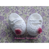 Zapatitos Para Bebes Tejidos A Crochet