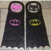 Souvenir Capa Fiselina Y Antifaz Goma Eva Batman Superhéroes