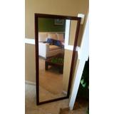 Espejo Decorativo Marco Madera Color Caoba 1.20 X 50 Cm Apro