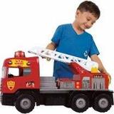 Caminhão Som E Luz Super Bombeiro Resgate 5056 Magic Toys