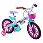 Bicicleta Infantil Feminina Aro 16 Frozen Disney Bandeirante