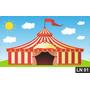 Circo Tenda Palhaço Painel 1,50x1,00m Lona Festa Aniversário