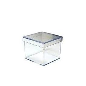 200 Caixinhas Acrílicas Transparentes 5x5x5