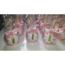 Maçã Do Amor Chocolate Rosa Com Coroa Dourada 12 Unidades