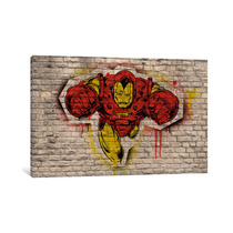 Pintura Arte Marvel Comic Book: Iron Man Graffiti By Marvel