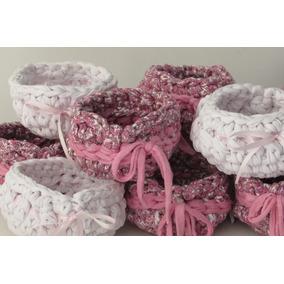 Souvenir Crochet Canasta Varias! Colores A Eleccion