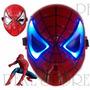 Spiderman Hombre Araña Mascara Con Luz Led