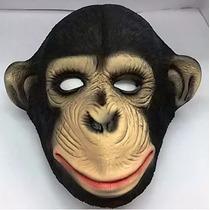 Máscara Chimpanzé Látex Macaco Fantasia Carnaval Frete Gráts