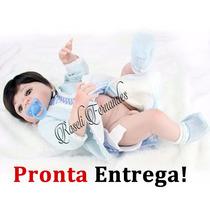 Pronta Entrega Boneca Bebe Reborn Silicone 55 Brinquedos