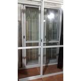 Puerta Balcón Aluminio Blanco 200x200 C/guias + Persiana Pvc