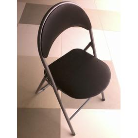 Quatro Cadeiras Dobraveis Metal Encosto E Assento Estofados