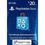 Tarjeta Play Station Store Psn - $20 - Gift Card - Prepago