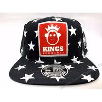 Boné Aba Reta Snapback Kings Sneakers Stars Estrela Preto
