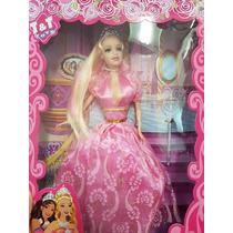 Kit 6 Bonecas Ana Bella Princesas Modelo Barbie Atacado
