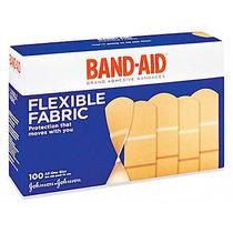 2 Cajas Con 100 Curitas De Tela Band-aid Cada Una De 1x3 P