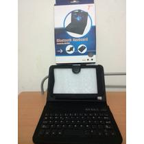 Estuche Con Teclado Tabla 7 Bluetooth Titan Color Nrgro