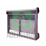 Ventana Aluminio Blanco 180x150 C/guia Y Cortina Vidrio 4mm