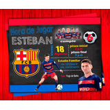 Invitación De Cumpleaños Messi Barcelona Photoshop