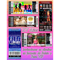 Invitaciones Xv Años-invitaciones Modernas-ticketparty