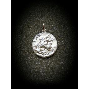 Medalla En Plata De San Jorge