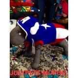 Disfraz Capitán América 30 Cm Caniche Moron Julypets