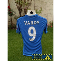 Jersey Leicester City Local Vardy 9 Campeón Inglaterra Foxes
