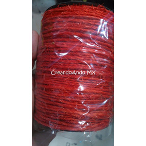 Rollo De Henequen/mecate Rojo Para Manualidades 80 Mts