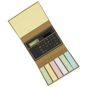 10mini Bloco De Anotações Ecológico Com Post-it +calculadora