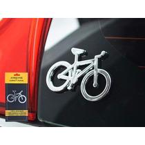 Adesivo Emblema Alto Relevo Bike Bicicleta Para Carro 3d 3m