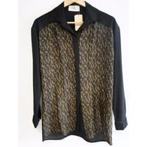 On Sale!! Camisa De Gasa Awada Animal Print M/larga T.2