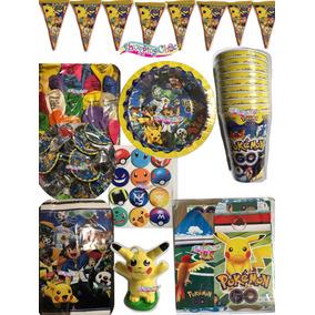Pokemon Dulceros Platos Vaso Desechables Pikachu Todo Fiesta