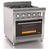 Cocina Morelli 75 750 Vidrio 4 Hornallas Rejas Fund Zona Sur