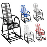 Cadeira De Balanço Varanda Área Cadeira De Fio Colorido