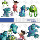 Kit Imprimible Monsters Inc Pack Clipart Imagenes Png