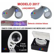 Lupa 40x 25mm C/ 3 Leds - Único Com Led Uv No Mercado Livre
