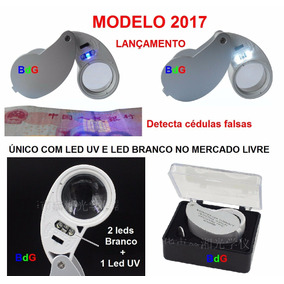 Lupa 40x 25mm C/ 3 Leds - Único Com Led Uv No Mercado Livre