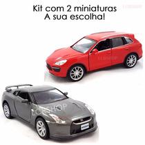 Kit Com 2 Miniaturas Ferro Kombi Camaro Chevy Santana