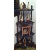 Impecable Mueble Esquinero De Repisas De Madera