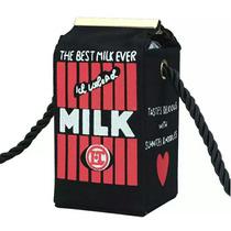 Bolsa Caixa De Leite Preta Funny Bag