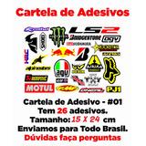 Cartela De Adesivos - ( Pequena ) #01