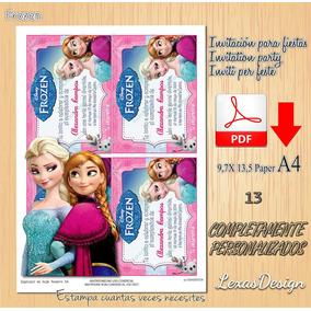 Invitacion Digital Imprimible Frozen Cumpleaños