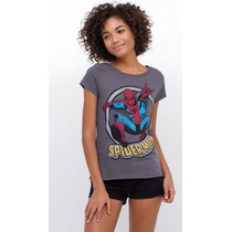 Blusa Feminina Homem-aranha Marvel Gg Nova!