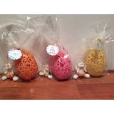 Huevo De Pascua Con Frente Filigrana Y Conejo De Porcelana