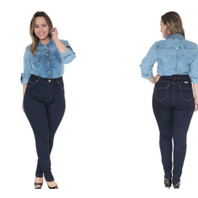 Calça Jeans Plus Size Feminina Tamanho Grande Com Lycra