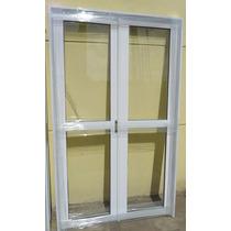 Puerta Balcon Doble Abrir Aluminio Reforzado Entero 150x200