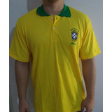 Camisa Masculina Polo Brasil - Frete Grátis