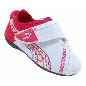 Tênis Puma Bebê Branco-vermelho