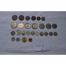 Moedas Antigas Portugal E Outros - ( Lt Nº 6 Com 27 Moedas)