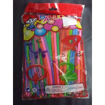 Bolsa Globosfiesta 200 Piezas Colores Neon Fiesta Figuras